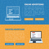 Targeted advertisement banner template for websites in vecto. R EPS10 royalty free illustration