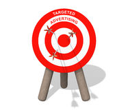 Targeted advertising board with arrows Royalty Free Stock Photography