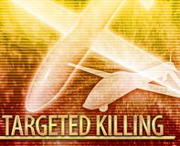 Targeted killing Abstract concept digital illustration Stock Photos