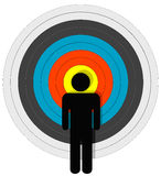 Targeted Person In Bullseye Royalty Free Stock Photos