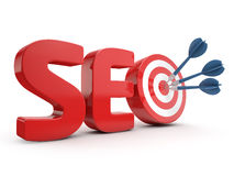 Targeted seo optimization Stock Photography
