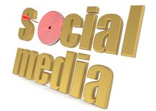 Targeted social media Royalty Free Stock Image