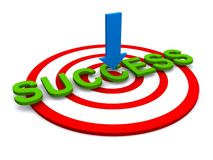 Targeted success Stock Images