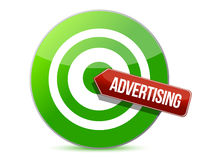 Targeting advertising. Illustration design over a white background Royalty Free Stock Images