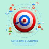 Targeting Customer Round Composition Stock Photo