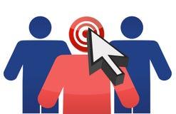 Targeting customers illustration design