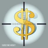 Targeting money concept Stock Images