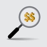 Targeting Money Concept, Vector Work Stock Image
