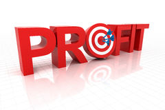 Targeting at profit Royalty Free Stock Photography