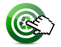 Targeting recycle. Illustration design cursor isolated over white Stock Photos