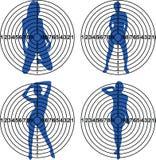 Targets. For shooting range. Vector illustration Stock Photo