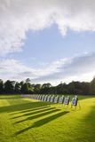 Targets. Archery field at the sunset royalty free stock photo