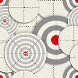 Targets. Seamless background of different sizes targets Royalty Free Stock Photo
