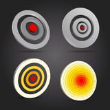 Targets. Different targets on black background Stock Photo