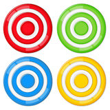 Targets. Set of four vector targets on white background Royalty Free Stock Photos