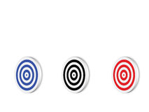 Targets. Blank colors targets, computer generated Stock Photography