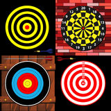 Targets. Set of various dart and archery targets Royalty Free Stock Images