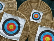 Targets. Some targets for archers in a sport show Royalty Free Stock Image