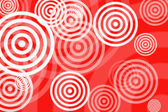Targets. Random targets and bullseyes over red background Royalty Free Stock Photo