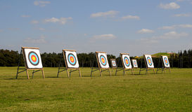 Targets. Olympic Archery Targets with Bullseye Royalty Free Stock Photo