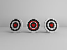 3 targets aim Stock Image