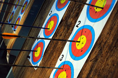 Targets with arrows Stock Photography