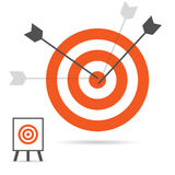 Targets with arrows art illustration Royalty Free Stock Image