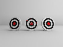 3 targets with 3 arrows in the middle Royalty Free Stock Photo
