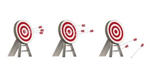 Targets with arrows Royalty Free Stock Photos