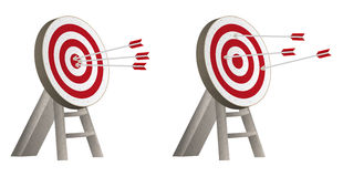 Targets with arrows Stock Photo