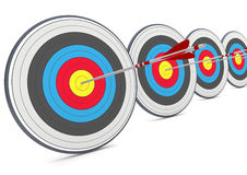 Targets with arrows. On the white background Royalty Free Stock Image