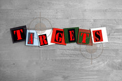 Targets - business or sports sign Royalty Free Stock Image