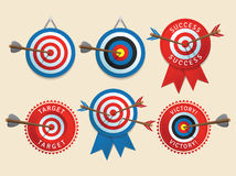 Targets design elements Royalty Free Stock Photos