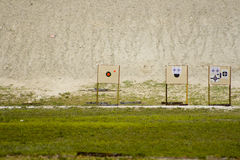 Targets at gun range Royalty Free Stock Photos