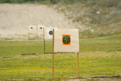 Targets at gun range Stock Photo