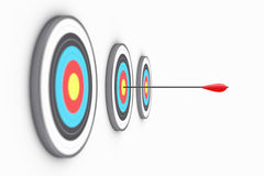 Targets. Illustration of the round targets with an arrow in the centre Stock Photo