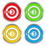 Targets with number 2013 Royalty Free Stock Photo