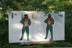 Targets for paintball Stock Photography
