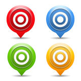 Targets. Set of four targets on white background Stock Image