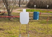 Targets on a Shooting Range Stock Photos