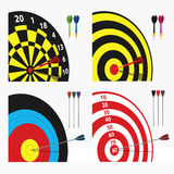 Targets. Vector set of four different targets Stock Photo