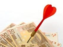 Targetting the Euro - business financial metaphor Stock Photos