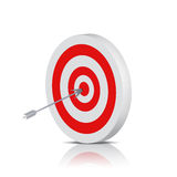 On Targey. The center of a bull's eye target royalty free illustration