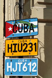 Targhe di immatricolazione cubane da vendere Immagine Stock Libera da Diritti