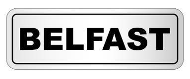 Targhetta della città di Belfast Fotografie Stock Libere da Diritti