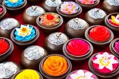 Targowa cyzelowanie kwiatu świeczka Fotografia Stock