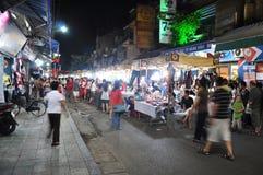 targowa Hanoi noc Zdjęcia Stock