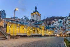Targowa kolumnada, Karlovy Zmienia zdjęcie stock