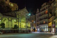 Targowa kolumnada, Karlovy Zmienia; Republika Czech zdjęcie stock