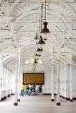 Targowa kolumnada w zdroju grodzki Karlovy Zmienia, Zachodnia cyganeria, czech r obrazy royalty free